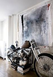 this is the home of eva and gentry dayton in brooklyn i love this is the home of eva and gentry dayton in brooklyn i love love love the vintage harley davidson in the living room