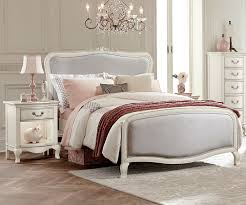 Antique White Youth Bedroom Furniture Kensington Silver Finish Katherine Full Size Upholstered Bed 30025