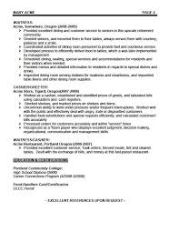 Example Server Resume sample of waitress resume 20 waiter resume samples uxhandy com