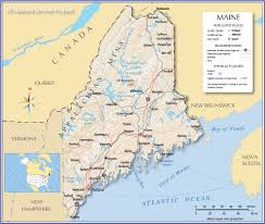 Time Zone Map United States Of America by Reference Map Of Maine Usa Nations Online Project