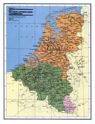 Luxembourg Map Detailed Political And Administrative Map Of Belgium Netherlands