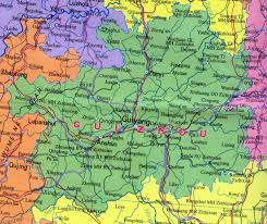 Map Of China Provinces Guizhou Map Map Of Guizhou China China Travel Map