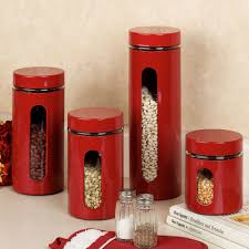 28 red kitchen canister sets sensations ii 3 piece canister