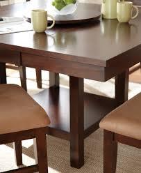 steve silver eden dining table w 18 inch lazy susan in dark