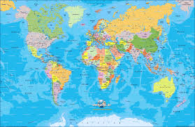 Egypt On A World Map by Map Of World Map Of The World Politically Map In The Atlas Of