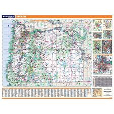 Springfield Oregon Map by Oregon Laminated State Wall Map