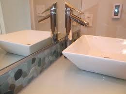 Bathroom Backsplash Ideas by Sea Green Pebble Tile Bathroom Vanity Backsplash Pebble Tile Shop