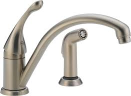 delta 441 dst collins single handle kitchen faucet with spray