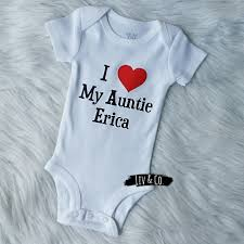 Personalized I Love My Aunt Baby Clothes I Love My Aunt Baby Clothes Baby