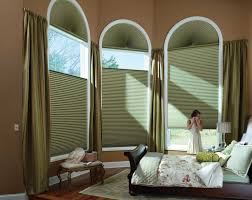 window treatment solutions for odd shaped windows inside arc