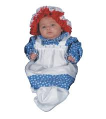 infant raggedy ann bunting halloween costume size 0 6 months