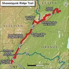 Map Nj Hike The Shawangunk Ridge Trail Trail Conference