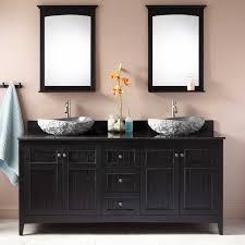 Alvelo Vessel Double Sink Vanity Black Bathroom - Black bathroom vanity with vessel sink