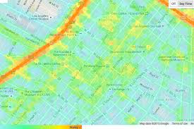 Google Maps Los Angeles by Mapping The Noise Levels At Every Point Around Los Angeles Curbed La