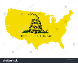 Map Of The Usa by Vector Map Usa Rattlesnake Gadsden Flag Stock Vector 482013394
