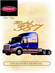 supplemental manuals peterbilt model 387 operator u0027s manual prior