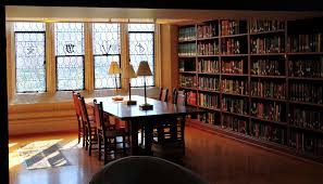 amazing design ideas of home library with rectangle shape wooden