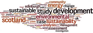 Word cloud of Environmental Sustainability dissertation titles
