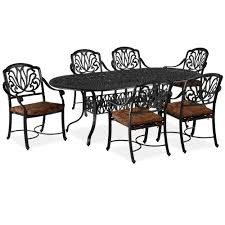 Patio Furniture Set Blue Patio Dining Sets Patio Dining Furniture The Home Depot