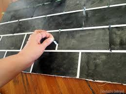 Painted Kitchen Backsplash Photos Painted Backsplash Slate Subway Tiles