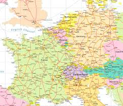 Spain Political Map by Map Of France And Switzerland Recana Masana