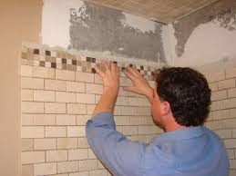 Bedroom Wall Gets Wet How To Install Tile In A Bathroom Shower How Tos Diy