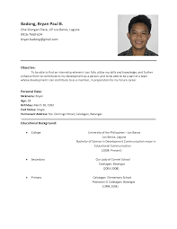 Student Resume Examples First Job by Resume Examples For Undergraduate College Students Little