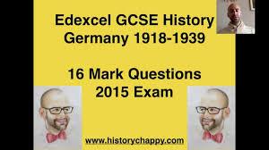 Germany GCSE History Edexcel    Mark Questions        YouTube YouTube