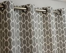 108 Inch Long Blackout Curtains by Storm Gray White Sydney Geometric Honeycomb Curtains Grommet