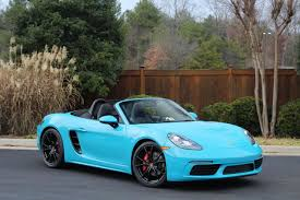 dealer inventory miami blue 718 boxster s manual chrono