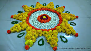 Flowers Home Decoration Decor Simple Rangoli Decoration With Flowers Best Home Design