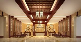 Chinese Style Hotel Lobby Interior Design Rendering Pictures D - Interior design chinese style