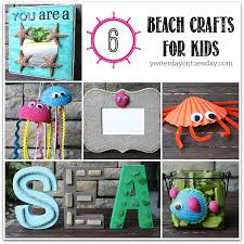 beach crafts for kids including styrofoam jellyfish a sand frame