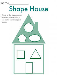 Shape House FREE Printable No Time For Flash Cards