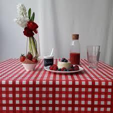 nappe ronde enduite 160 nappe coton enduit guinguette rouge carrée 160x160 fleur de soleil