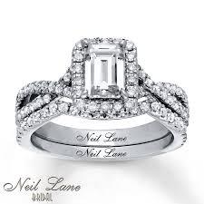 neil lane engagement rings jared neil lane bridal set 1 3 4 ct tw diamonds 14k white gold