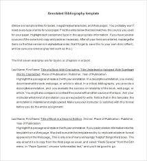 annotated bibliographic citation