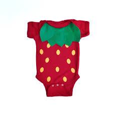 strawberry kids costume food bodysuit halloween costume