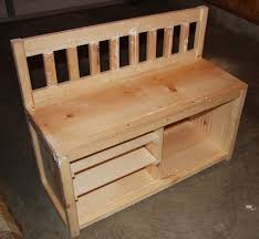 Rustic Wooden Bench With Storage Bench Bench With Shoe Storage Plans Wonderful Wooden Shoe