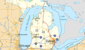 Map Of University Of Michigan by Interstate 75 In Michigan Wikipedia