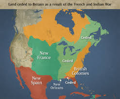 Map Of France And Spain by French And Indian War Following The Treaty Of Paris 1763