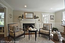 mark hampton traditional living room with crown molding by elite staging and