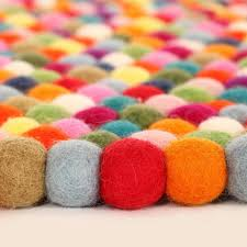 Multicolor Rug Original Multi Color Felt Ball Rug Rosenberryrooms Com