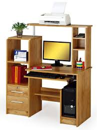 multi function wooden computer desk with cpu holder bookshelf lock