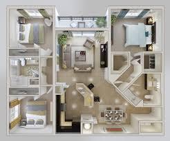 Home Plan Com 3 Bedroom Apartment House Plans