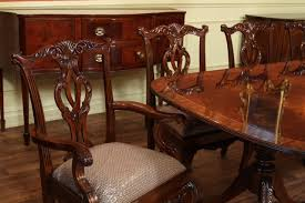 chair mahogany dining room table with leaves seats 12 14 people