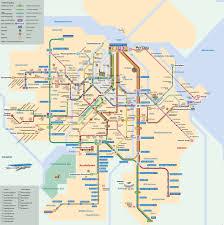 Metro Lines Map by Map Of Amsterdam Subway Underground U0026 Tube Metro Stations U0026 Lines