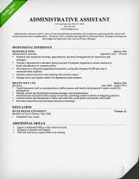 Ms Word Sample Resume by Administrative Assistant Resume Sample Resume Genius