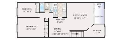 2 Bedroom 1 Bath Floor Plans Apartments For Rent In Maple Shade Nj Foxmeadow Com