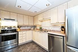 Modern Luxury Kitchen Designs by Modern Luxury Kitchen With Stainless Steel Appliances Stock Photo